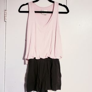 Anthropologie Elevenses Pink slouchy tank romper